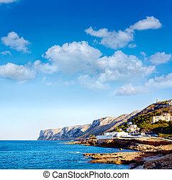 rotas,  denia, méditerranéen, plage, espagne,  las