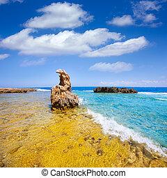 rotas, roccioso, denia, alicante, spiaggia, spagna, las