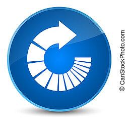 Rotate arrow icon elegant blue round button