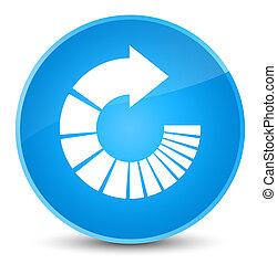 Rotate arrow icon elegant cyan blue round button