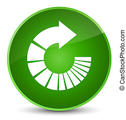 Rotate arrow icon elegant green round button