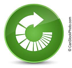 Rotate arrow icon elegant soft green round button