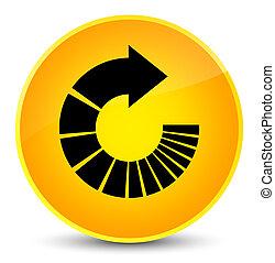 Rotate arrow icon elegant yellow round button