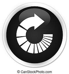 Rotate arrow icon premium black round button