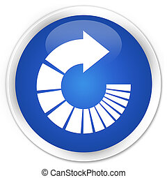 Rotate arrow icon premium blue round button