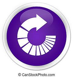 Rotate arrow icon premium purple round button