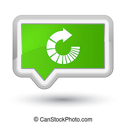 Rotate arrow icon prime soft green banner button