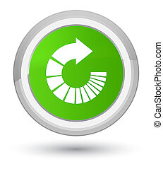 Rotate arrow icon prime soft green round button