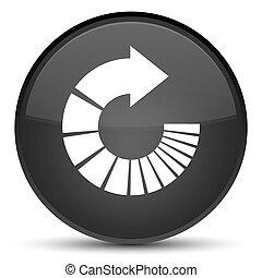 Rotate arrow icon special black round button