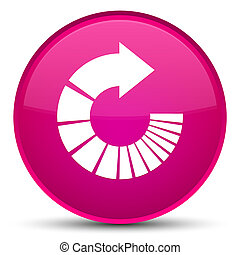 Rotate arrow icon special pink round button