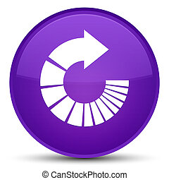 Rotate arrow icon special purple round button