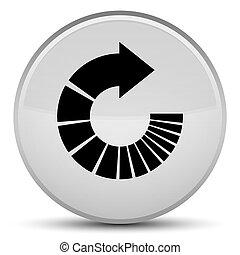 Rotate arrow icon special white round button