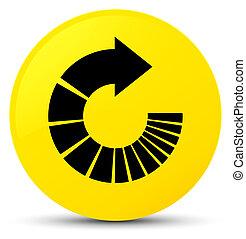 Rotate arrow icon yellow round button