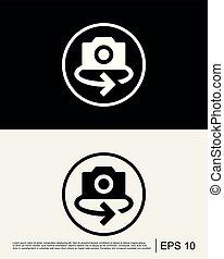 Rotate Camera Icon Template
