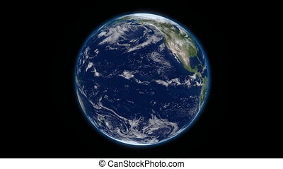 3d rotating earth.