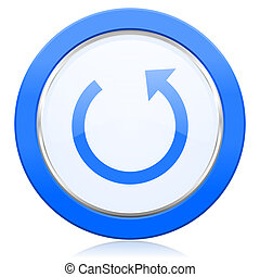 rotate icon reload sign