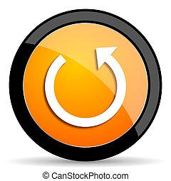 rotate orange icon