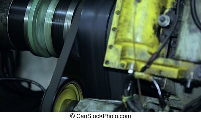 rotate the belt on the drive. CNC - belt drive for the main...