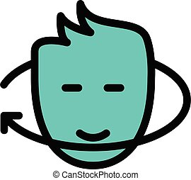 rotate vector color line  icon