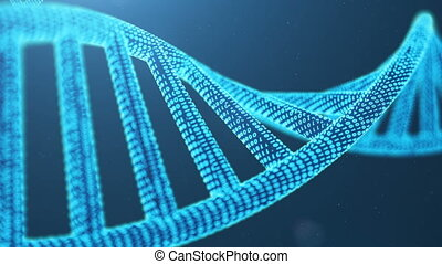 Rotated 3D rendered Artifical Intelegence DNA Molecule. DNA...