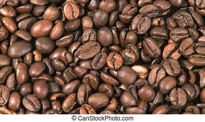 Rotated coffee beans - Coffee beans background closeup