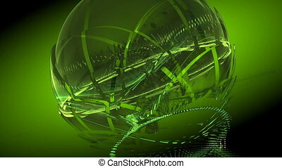rotated green sphere seamless bg