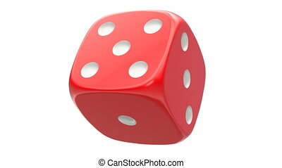 Rotated red dice