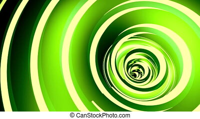 Rotated twisted green tunnel.