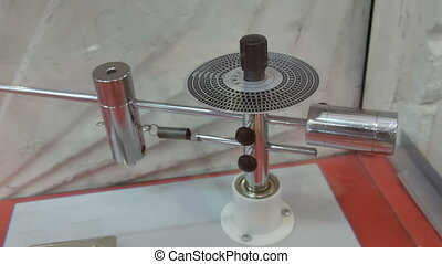 rotatif, mouvement, démontrer, appareil, dynamique, physique...