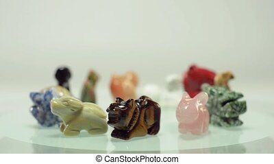 Rotating 12 Chinese zodiac animals - 12 Chinese zodiac stone...