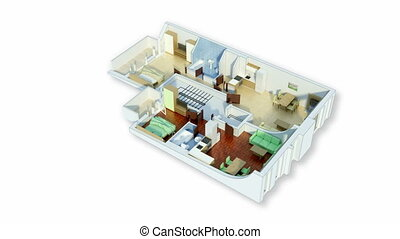 Rotating 3D floor plan with Alpha Channel