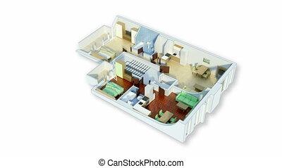 Rotating 3D floor plan
