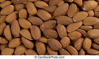 rotating background of almonds