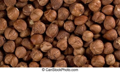 rotating background of hazelnuts, seamless loopable