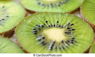 Rotating background of kiwifruit - Footage of fresh rotating...