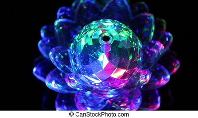 rotating ball with light
