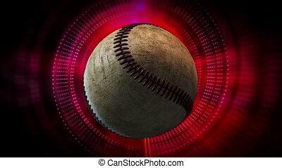 Rotating Baseball Ball