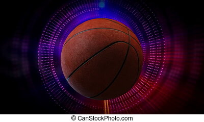 Rotating Basketball Ball as 3d Animated Sports Motion...