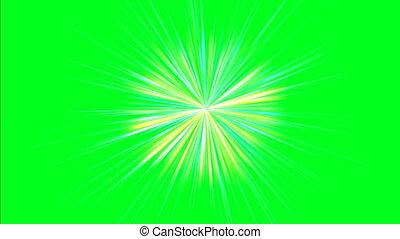 Rotating beams on green screen