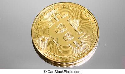 Rotating bitcoin, seamless loop