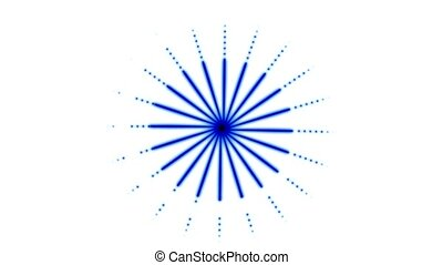 Rotating blue dots circular pattern