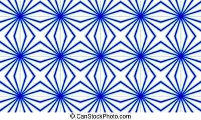 Rotating blue ripple fancy pattern