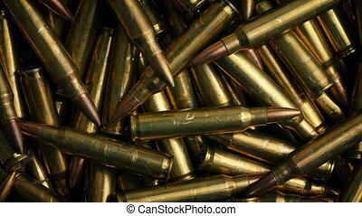 Rotating Bullet Pile Closeup