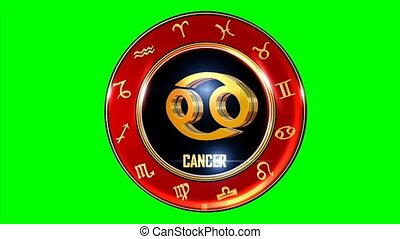 Rotating CANCER western Zodiac Symbol