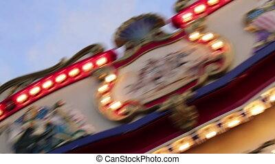 Rotating Carousel at the Fair - Having fun at the carousel...