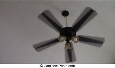 Slowly rotating ceiling fan