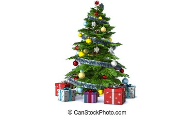 Rotating Christmas tree. With alpha, loopable