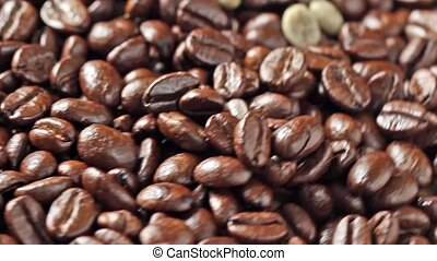 Rotating coffee beans