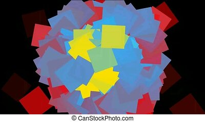 Rotating color paper background,seamless loop