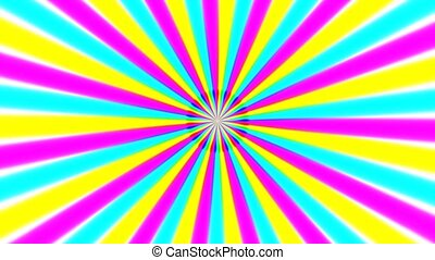 Rotating color rays